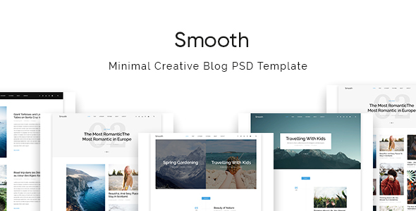 Smooth | Minimal Blog PSD Template - Personal PSD Templates