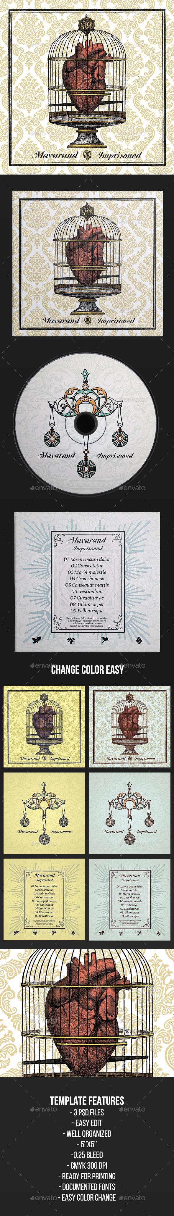 Mavarand - CD Cover Artwork Template - CD & DVD Artwork Print Templates