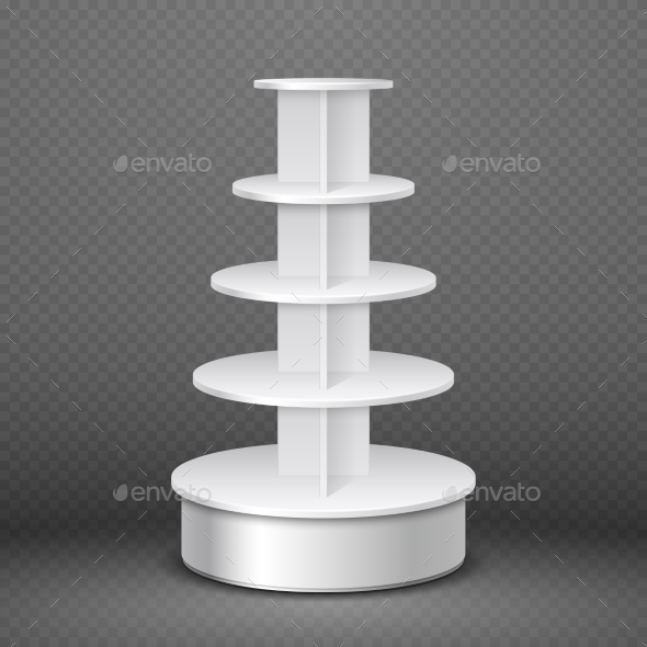 White Blank Products Display Spiral Stand - Man-made Objects Objects