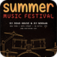 Summer Music Festival Flyer Template - GraphicRiver Item for Sale
