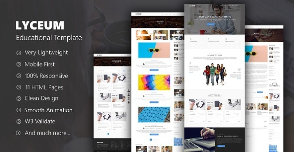 LYCEUM – HTML Educational Template