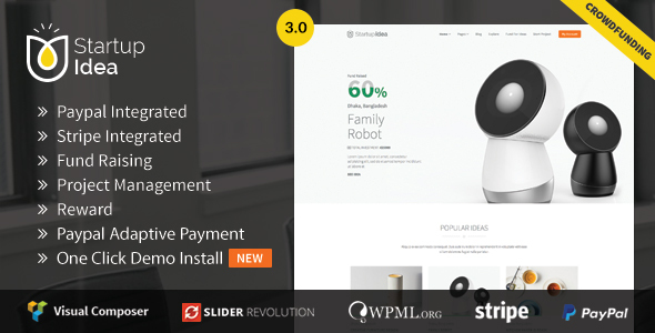 Crowdfunding WordPress Theme | StartupIdea - Crowdfunding  WP - Miscellaneous WordPress