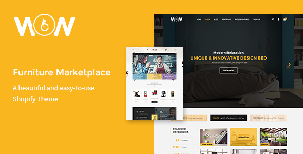 Wow – Furniture Marketplace Theme