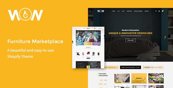 Wow – Furniture Marketplace Theme