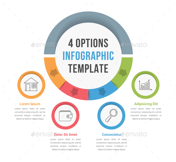 Four Options Infographics - Infographics
