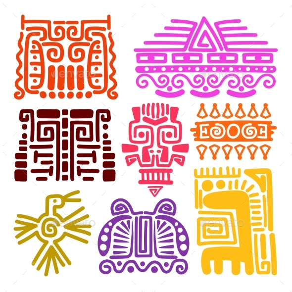 American Indians Ancient Totems - Miscellaneous Vectors