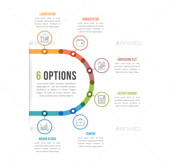 6 Options Infographic Template - Infographics