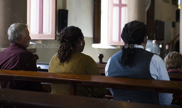 Church People Believe Faith Religious Praying - Stock Photo - Images
