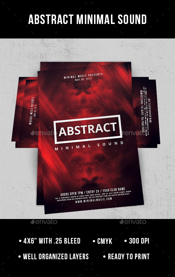 Abstract Minimal Sound - Flyer - Clubs & Parties Events