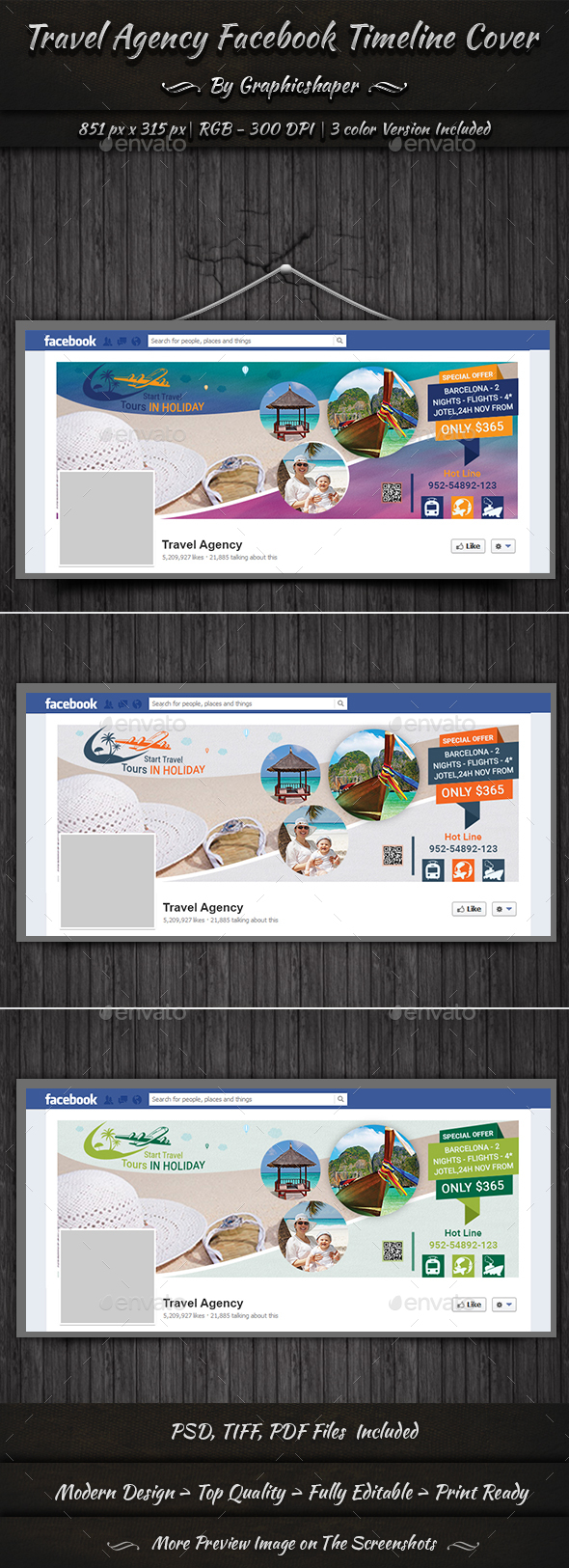 Travel Agency Facebook Cover - Facebook Timeline Covers Social Media
