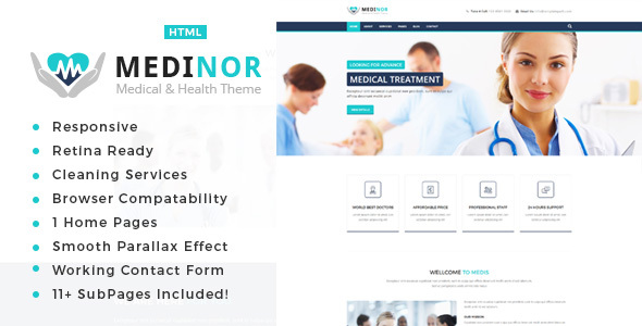 Medinor – Health And Medical HTML Template