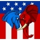 American Election Donkey Elephant Concept