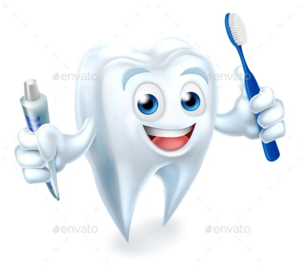 Tooth Mascot - Health/Medicine Conceptual