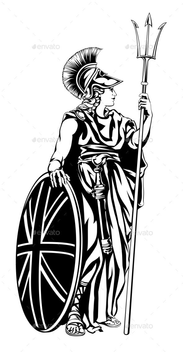 Illustration of Britannia - People Characters