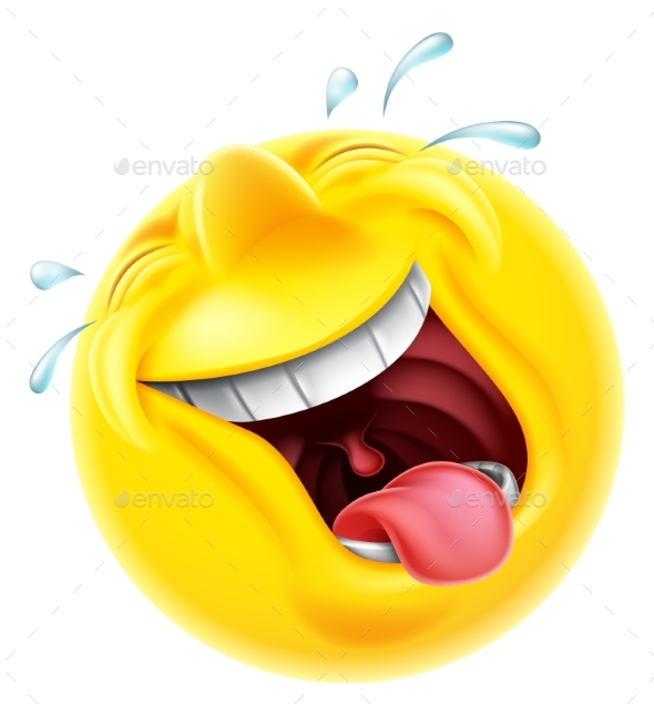 Cartoon Characters Laughing : Laughing emoji emoticon by krisdog graphicriver