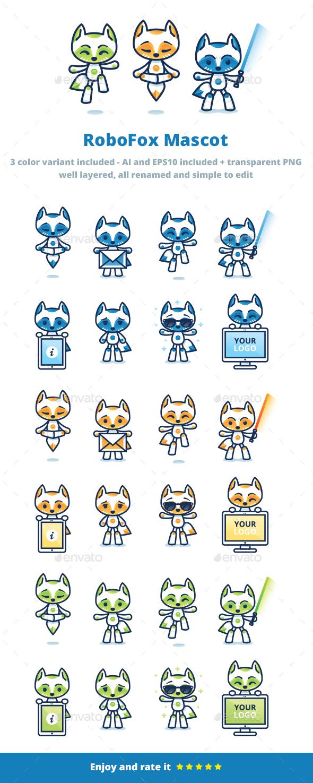 RoboFox Mascot - Animals Characters