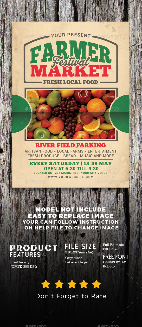 Farmer Market Event Flyer - Flyers Print Templates