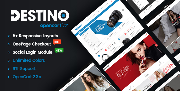 Destino – Advanced & High Customizable eCommerce OpenCart 2.3 Theme