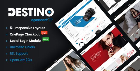 Destino - Advanced & High Customizable eCommerce OpenCart 2.3 Theme