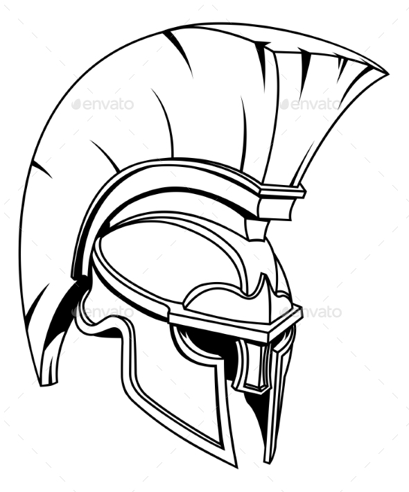 Spartan or Trojan Gladiator Helmet - Man-made Objects Objects