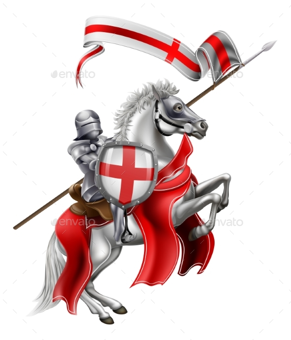 Saint George of England Knight on Horse - Sports/Activity Conceptual