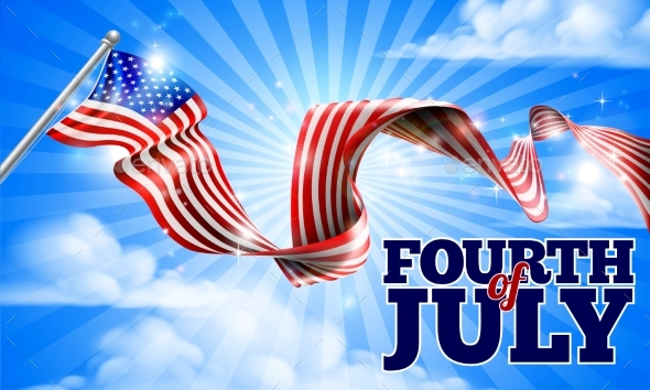 Fourth of July Independence Day American Flag - Miscellaneous Seasons/Holidays