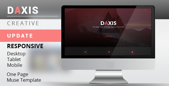 DAXIS One Page Muse Template - Creative Muse Templates
