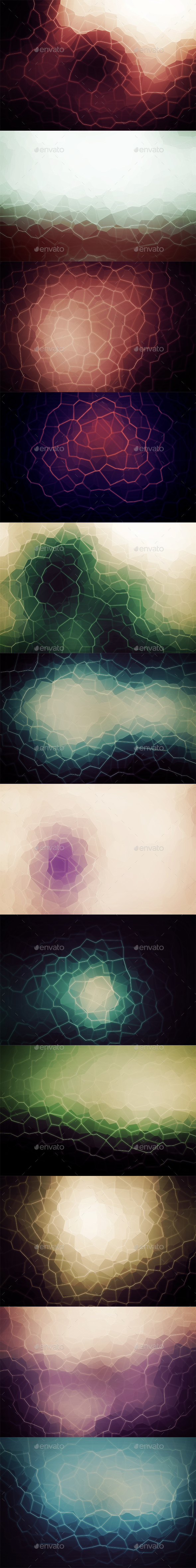 Crystallized Backgrounds Vol17 - Abstract Backgrounds