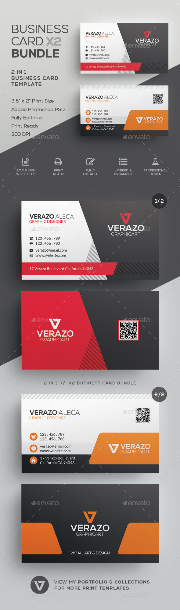 Business Card Bundle 32 - Corporate Business Cards