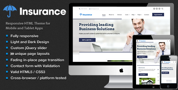 Insurance - Insurance Agency, Finance,Consulting  & Business Multipurpose Template