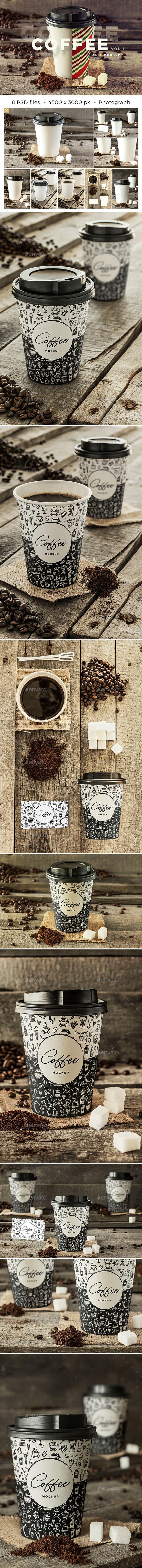 Coffee Branding Mockup - Vol 1. - Food and Drink Packaging