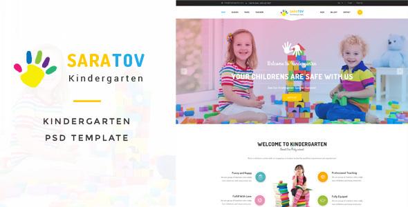 Saratov – Kindergarten PSD Template