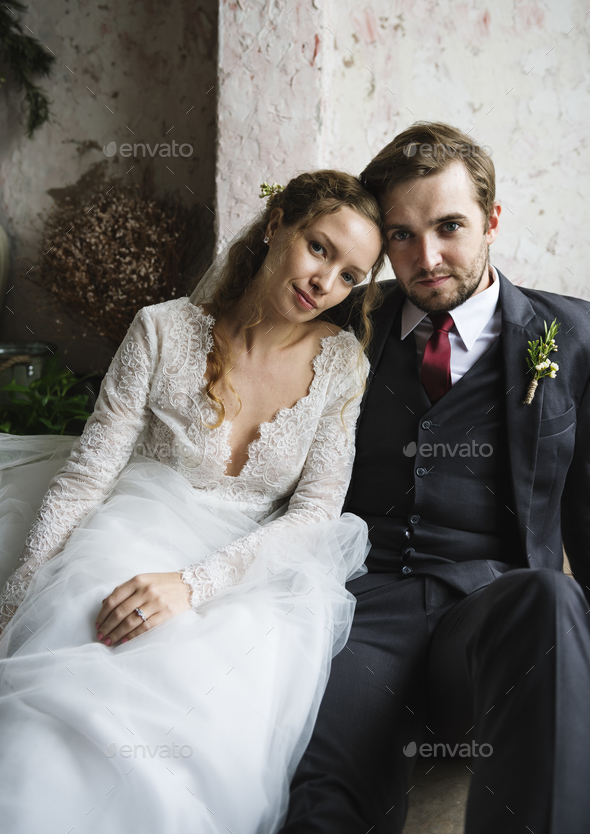 Bride and Groom Together Love Happiness Wedding Marriage - Stock Photo - Images