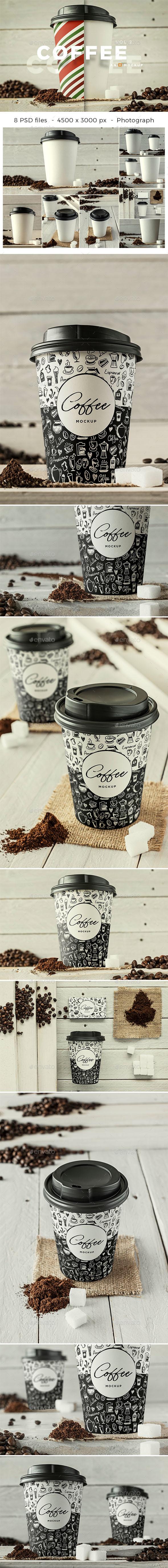 Coffee Branding Mockup - Vol 2. - Food and Drink Packaging