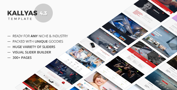 KALLYAS - Gigantic Premium Multi-Purpose HTML5 Template Screenshot