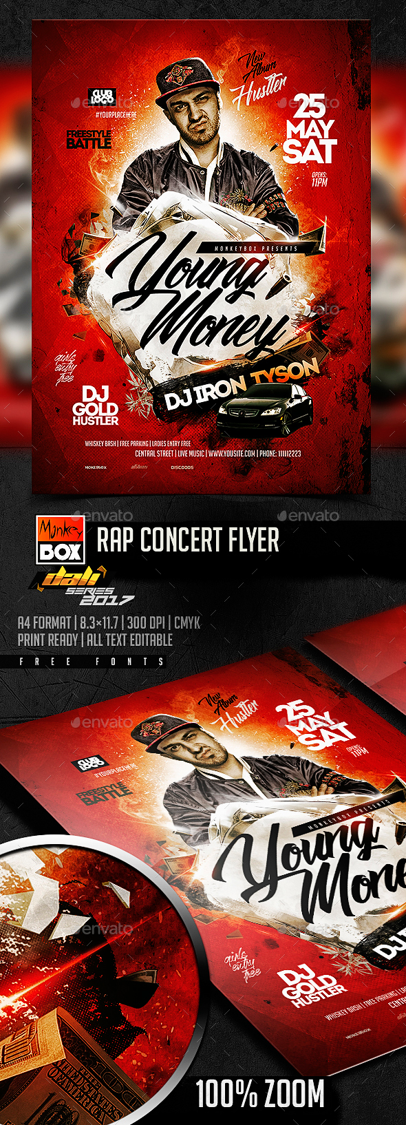 Rap Concert Flyer - Flyers Print Templates