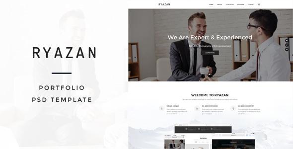 Ryazan - Portfolio PSD Template - Portfolio Creative