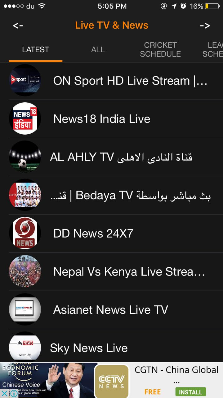 you free live tv streaming  matches  u0026 leagues schedules and news feed by fromyounas