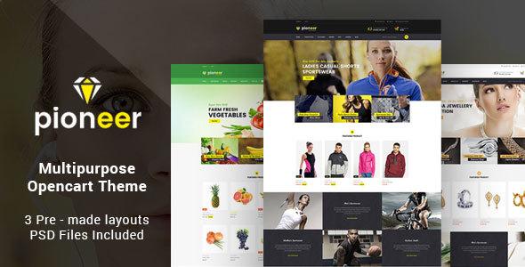 Pioneer – Responsive Multipurpose Opencart Theme | Sportswear Store | Jewellery Store | Food Store