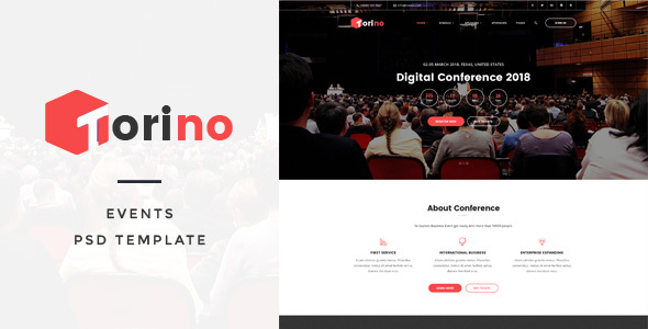 Torino - Events PSD Template - Business Corporate