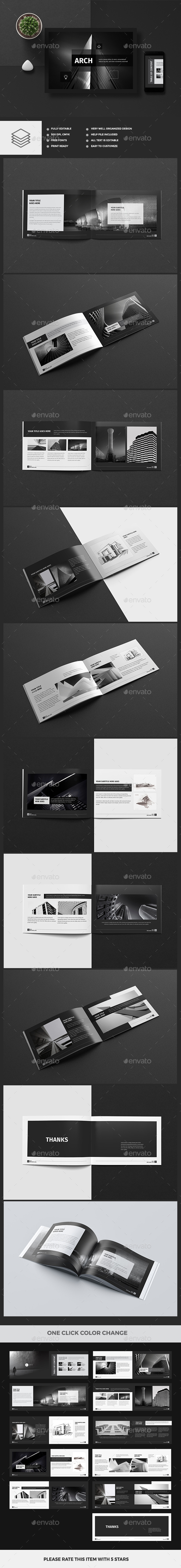 Modern Architecture Brochure 24 Pages A4 & A5 - Brochures Print Templates
