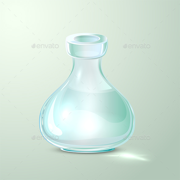Empty Laboratory Flask - Man-made Objects Objects