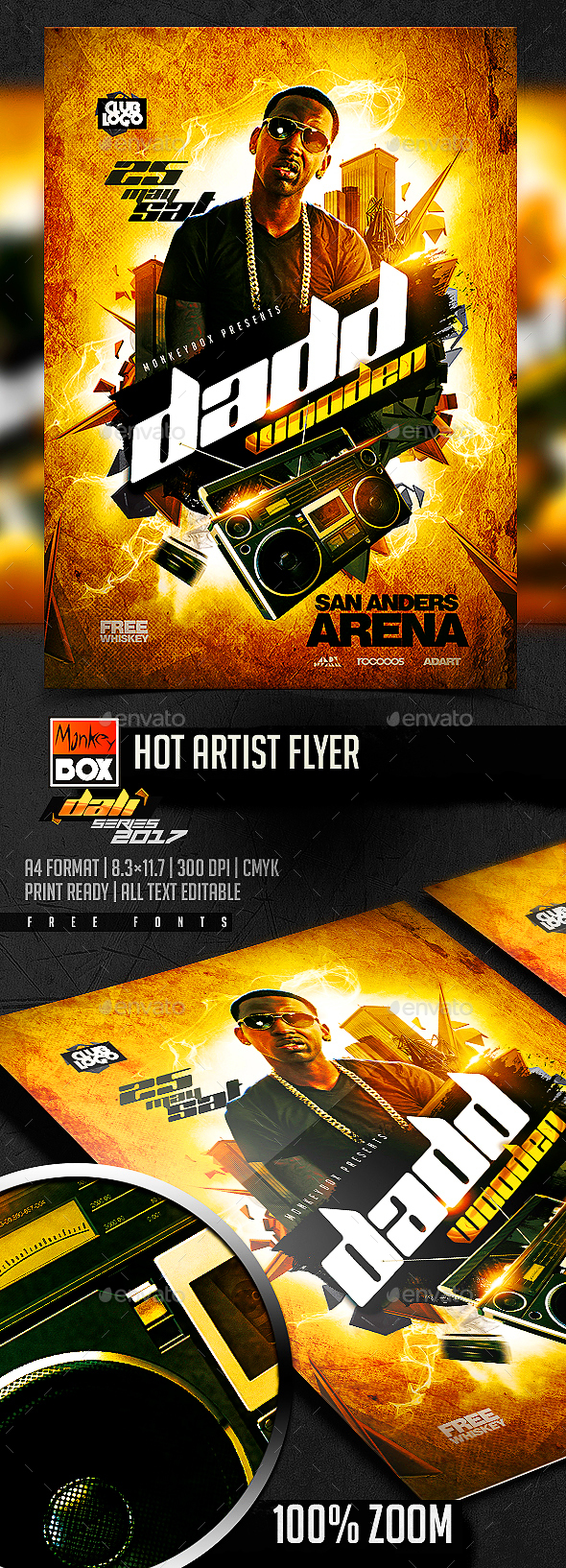 Hot Artist Flyer - Flyers Print Templates