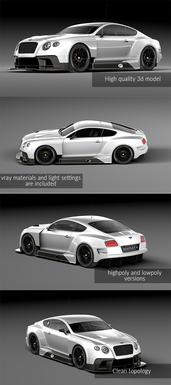 Bentley Continental GT3 2014 - 3DOcean Item for Sale