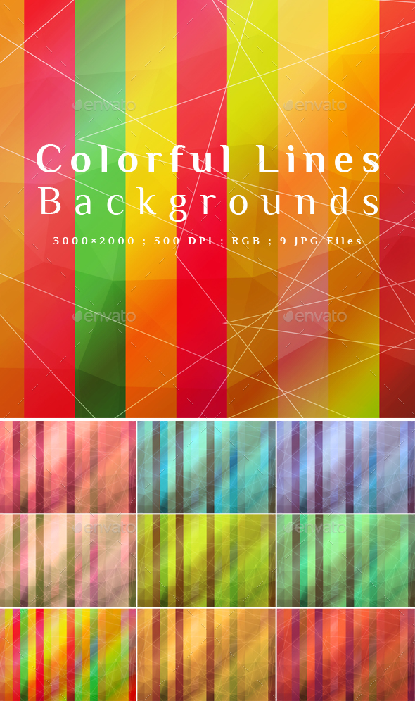 Colorful Lines Backgrounds - Abstract Backgrounds