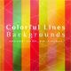 Colorful Lines Backgrounds - GraphicRiver Item for Sale