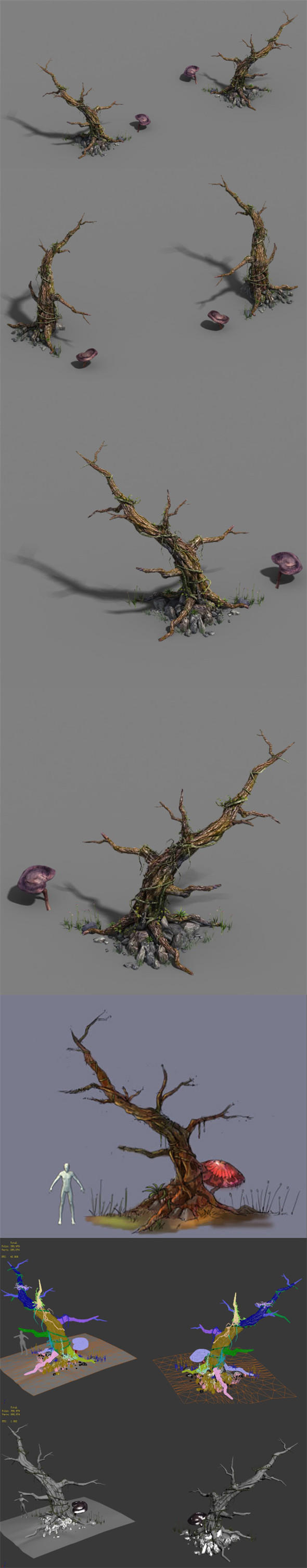 Plant - dead tree - 3DOcean Item for Sale