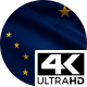 Flag 4K Alaska On Realistic Looping Animation With Highly Detailed Fabric - VideoHive Item for Sale