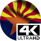 Flag 4K Arizona On Realistic Looping Animation With Highly Detailed Fabric - VideoHive Item for Sale
