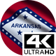 Flag 4K Arkansas On Realistic Looping Animation With Highly Detailed Fabric - VideoHive Item for Sale